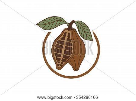 Walnut Logo Sign. Isolated Walnut On White Background
