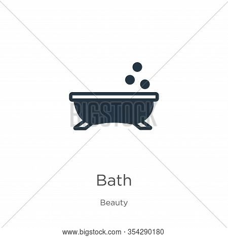 Bath Icon Vector. Trendy Flat Bath Icon From Beauty Collection Isolated On White Background. Vector