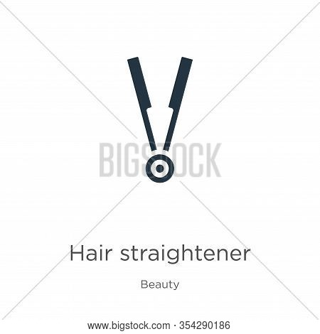 Hair Straightener Icon Vector. Trendy Flat Hair Straightener Icon From Beauty Collection Isolated On