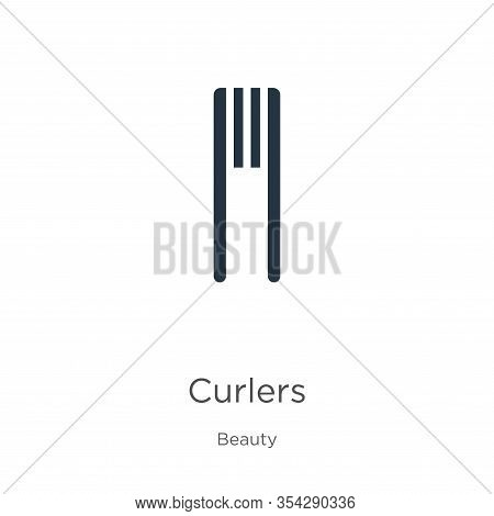 Curlers Icon Vector. Trendy Flat Curlers Icon From Beauty Collection Isolated On White Background. V