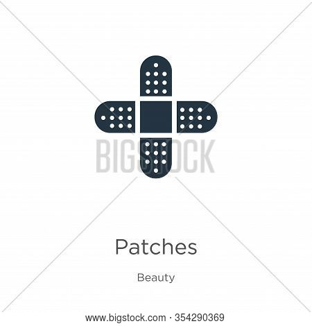 Patches Icon Vector. Trendy Flat Patches Icon From Beauty Collection Isolated On White Background. V