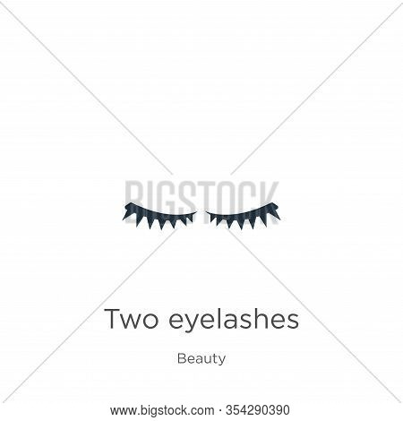 Two Eyelashes Icon Vector. Trendy Flat Two Eyelashes Icon From Beauty Collection Isolated On White B