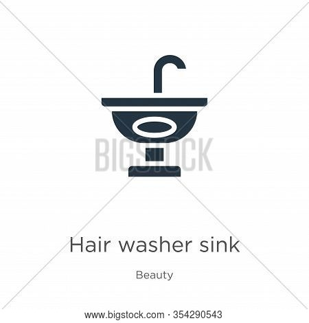 Hair Washer Sink Icon Vector. Trendy Flat Hair Washer Sink Icon From Beauty Collection Isolated On W