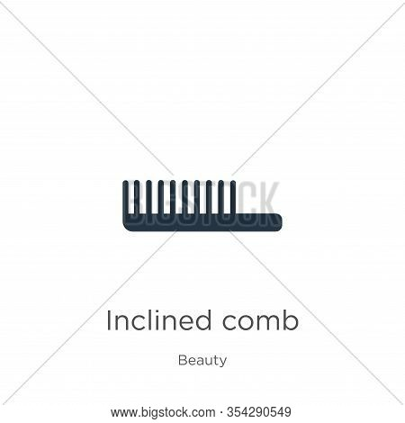 Inclined Comb Icon Vector. Trendy Flat Inclined Comb Icon From Beauty Collection Isolated On White B