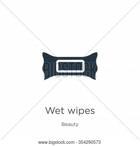 Wet Wipes Icon Vector. Trendy Flat Wet Wipes Icon From Beauty Collection Isolated On White Backgroun