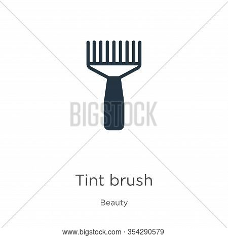 Tint Brush Icon Vector. Trendy Flat Tint Brush Icon From Beauty Collection Isolated On White Backgro