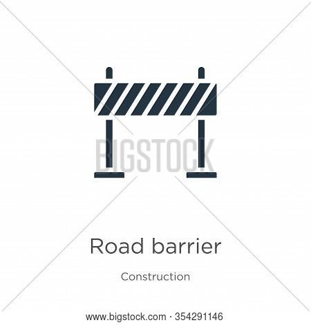 Road Barrier Icon Vector. Trendy Flat Road Barrier Icon From Construction Collection Isolated On Whi