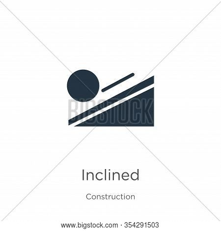 Inclined Icon Vector. Trendy Flat Inclined Icon From Construction Collection Isolated On White Backg