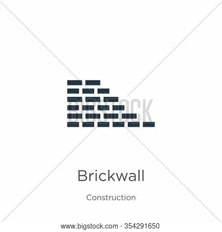Brickwall Icon Vector. Trendy Flat Brickwall Icon From Construction Collection Isolated On White Bac