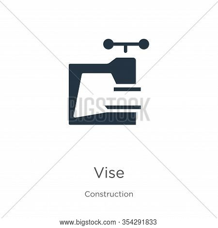 Vise Icon Vector. Trendy Flat Vise Icon From Construction Collection Isolated On White Background. V