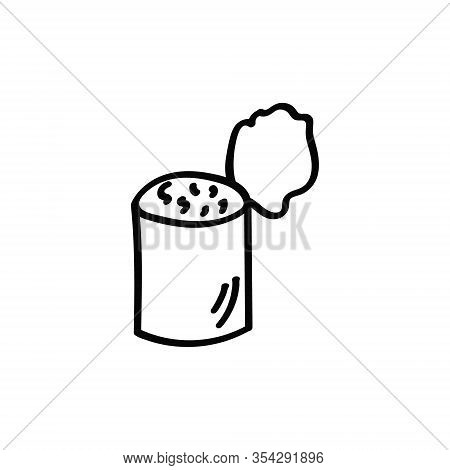 Stew Doodle Icon. Drawing By Hand. Vector Illustration.