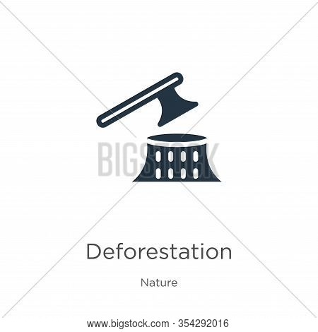 Deforestation Icon Vector. Trendy Flat Deforestation Icon From Nature Collection Isolated On White B