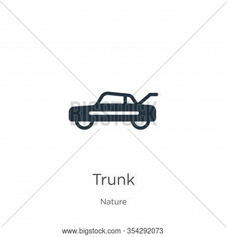 Trunk Icon Vector. Trendy Flat Trunk Icon From Nature Collection Isolated On White Background. Vecto