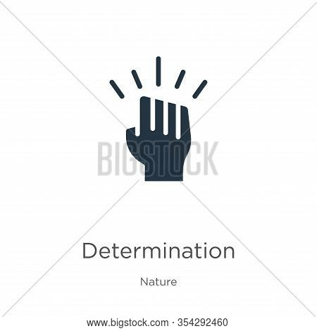 Determination Icon Vector. Trendy Flat Determination Icon From Nature Collection Isolated On White B