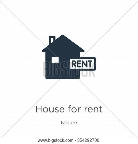 House For Rent Icon Vector. Trendy Flat House For Rent Icon From Nature Collection Isolated On White