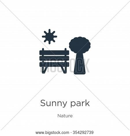Sunny Park Icon Vector. Trendy Flat Sunny Park Icon From Nature Collection Isolated On White Backgro
