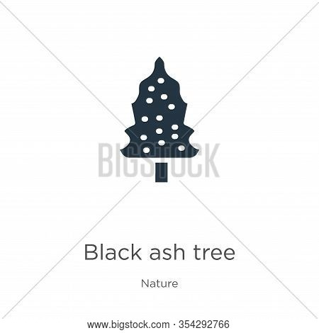 Black Ash Tree Icon Vector. Trendy Flat Black Ash Tree Icon From Nature Collection Isolated On White