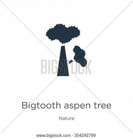 Bigtooth Aspen Tree Icon Vector. Trendy Flat Bigtooth Aspen Tree Icon From Nature Collection Isolate