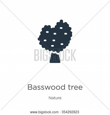 Basswood Tree Icon Vector. Trendy Flat Basswood Tree Icon From Nature Collection Isolated On White B
