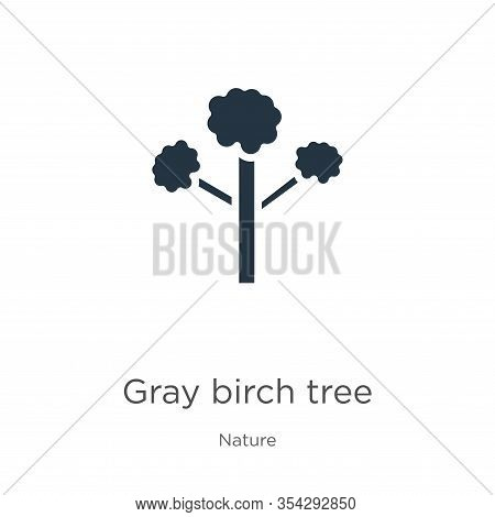 Gray Birch Tree Icon Vector. Trendy Flat Gray Birch Tree Icon From Nature Collection Isolated On Whi