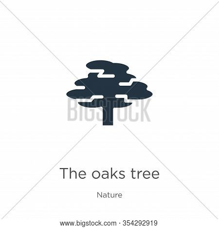 The Oaks Tree Icon Vector. Trendy Flat The Oaks Tree Icon From Nature Collection Isolated On White B