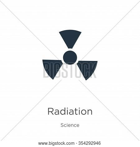 Radiation Icon Vector. Trendy Flat Radiation Icon From Science Collection Isolated On White Backgrou