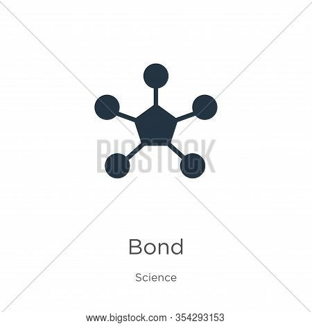 Bond Icon Vector. Trendy Flat Bond Icon From Science Collection Isolated On White Background. Vector