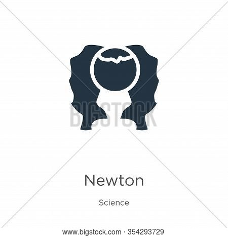 Newton Icon Vector. Trendy Flat Newton Icon From Science Collection Isolated On White Background. Ve