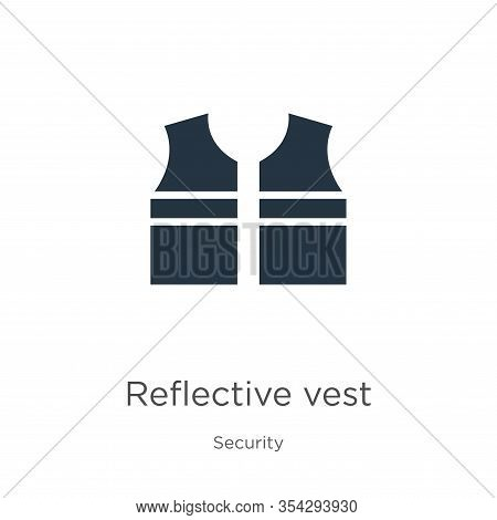 Reflective Vest Icon Vector. Trendy Flat Reflective Vest Icon From Security Collection Isolated On W