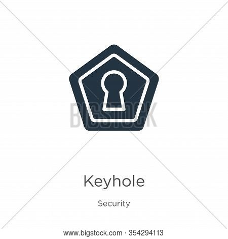 Keyhole Icon Vector. Trendy Flat Keyhole Icon From Security Collection Isolated On White Background.