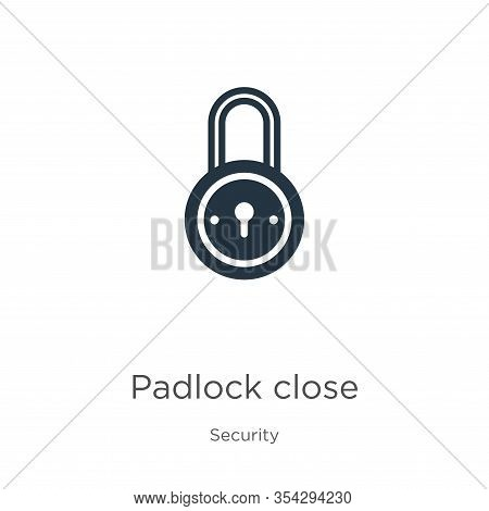 Padlock Close Icon Vector. Trendy Flat Padlock Close Icon From Security Collection Isolated On White