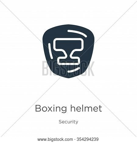 Boxing Helmet Icon Vector. Trendy Flat Boxing Helmet Icon From Security Collection Isolated On White