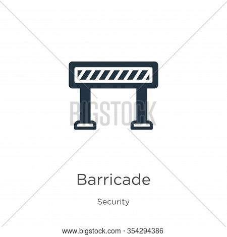 Barricade Icon Vector. Trendy Flat Barricade Icon From Security Collection Isolated On White Backgro