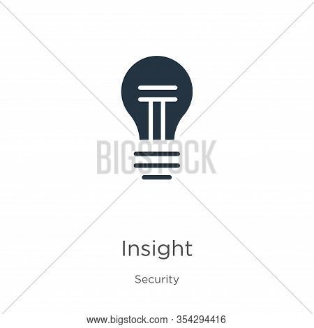 Insight Icon Vector. Trendy Flat Insight Icon From Security Collection Isolated On White Background.