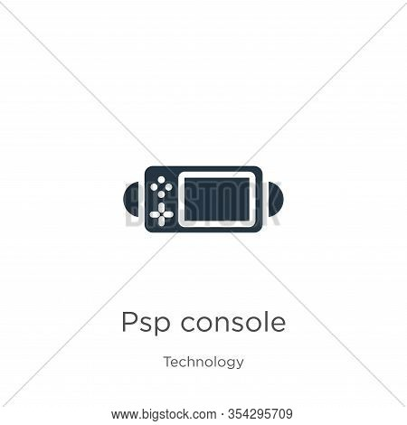 Psp Console Icon Vector. Trendy Flat Psp Console Icon From Technology Collection Isolated On White B