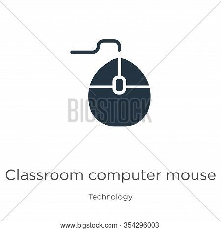 Classroom Computer Mouse Icon Vector. Trendy Flat Classroom Computer Mouse Icon From Technology Coll