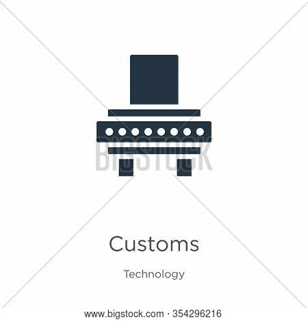 Customs Icon Vector. Trendy Flat Customs Icon From Technology Collection Isolated On White Backgroun