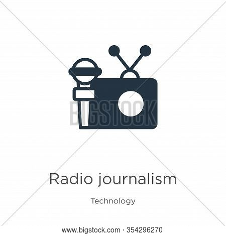 Radio Journalism Icon Vector. Trendy Flat Radio Journalism Icon From Technology Collection Isolated