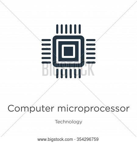 Computer Microprocessor Icon Vector. Trendy Flat Computer Microprocessor Icon From Technology Collec