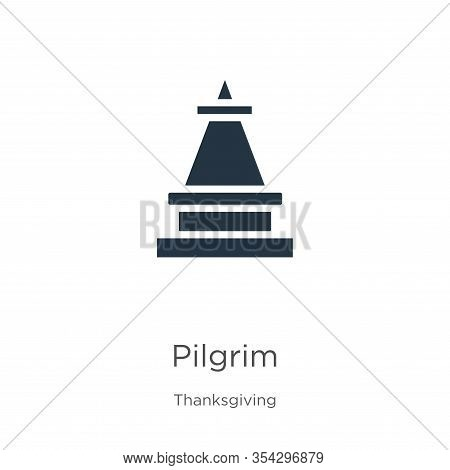 Pilgrim Icon Vector. Trendy Flat Pilgrim Icon From Thanksgiving Collection Isolated On White Backgro
