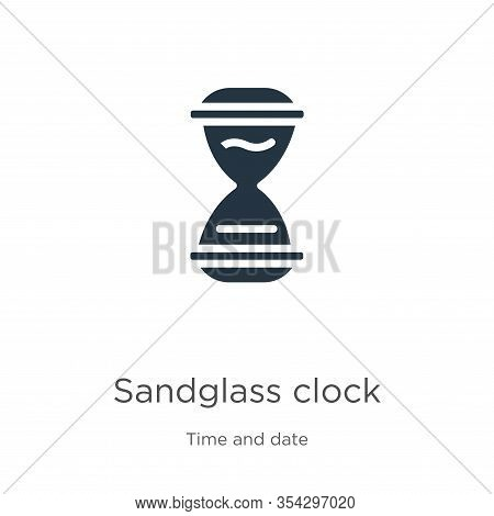 Sandglass Clock Icon Vector. Trendy Flat Sandglass Clock Icon From Time And Date Collection Isolated