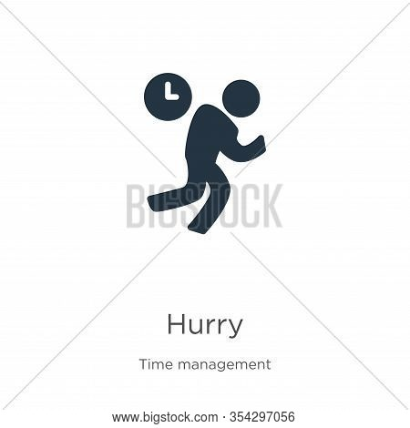 Hurry Icon Vector. Trendy Flat Hurry Icon From Time Management Collection Isolated On White Backgrou