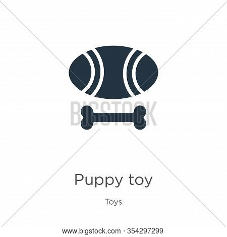 Puppy Toy Icon Vector. Trendy Flat Puppy Toy Icon From Toys Collection Isolated On White Background.