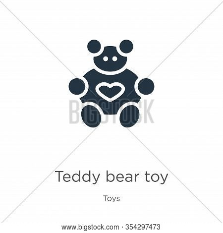 Teddy Bear Toy Icon Vector. Trendy Flat Teddy Bear Toy Icon From Toys Collection Isolated On White B