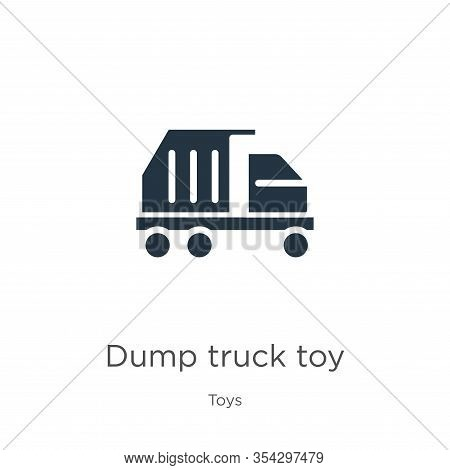 Dump Truck Toy Icon Vector. Trendy Flat Dump Truck Toy Icon From Toys Collection Isolated On White B