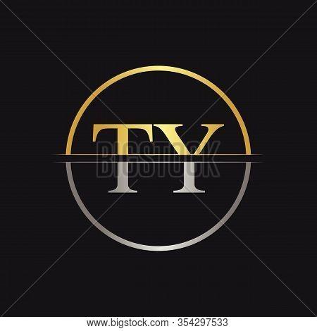 Initial Letter Ty Logo Design Vector Template. Linked Typography Ty Letter Logo Design