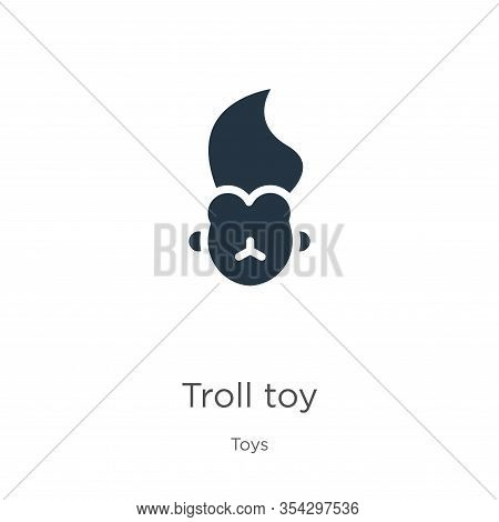 Troll Toy Icon Vector. Trendy Flat Troll Toy Icon From Toys Collection Isolated On White Background.