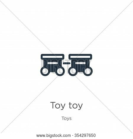 Toy Toy Icon Vector. Trendy Flat Toy Toy Icon From Toys Collection Isolated On White Background. Vec