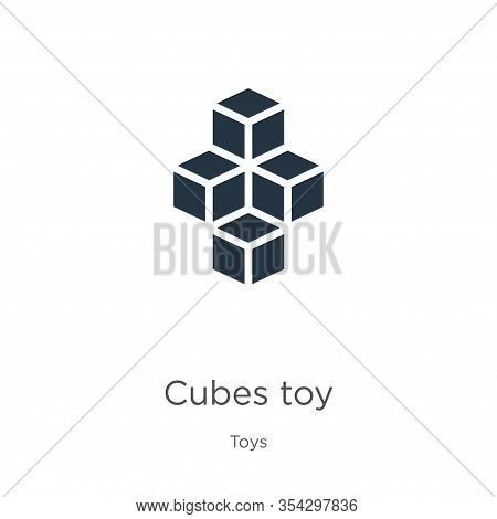 Cubes Toy Icon Vector. Trendy Flat Cubes Toy Icon From Toys Collection Isolated On White Background.