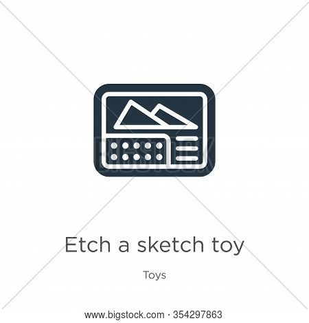 Etch A Sketch Toy Icon Vector. Trendy Flat Etch A Sketch Toy Icon From Toys Collection Isolated On W